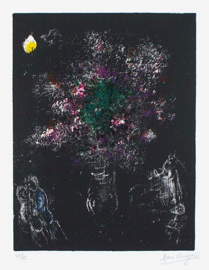 Marc Chagall Lithograph, Fleur Des Champs (Flowers of The Fields), 1980