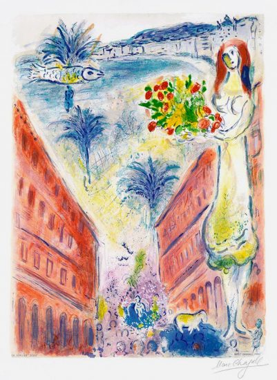 Marc Chagall Lithograph, La Victoire, 1967