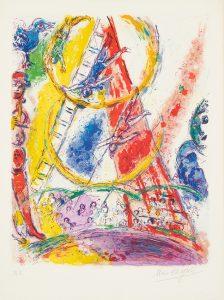 Marc Chagall Lithograph, Le Cirque (The Circus), 1967