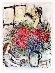 Marc Chagall Lithograph, La Chevaucheé (The Ride), 1970