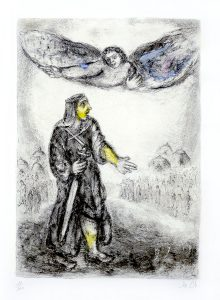 Marc Chagall Etching, Joshua Before Jericho (from the Bible Series), 1958