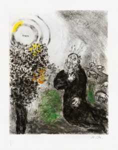 Marc Chagall Etching, The Burning Bush (from the Bible Series), 1958