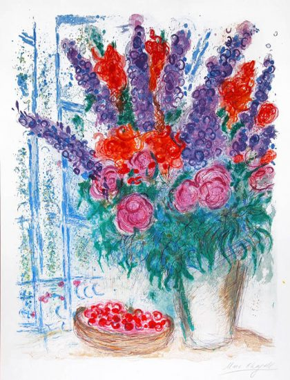 Marc Chagall Lithograph, Le Grand Bouquet (The Large Bouquet), 1963