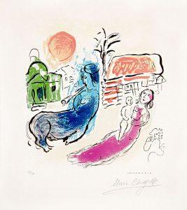 Marc Chagall Lithograph, Maternité au Centaure, 1957