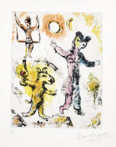 Marc Chagall Etching, La reve de l'ane (The Donkey's Dream), 1968