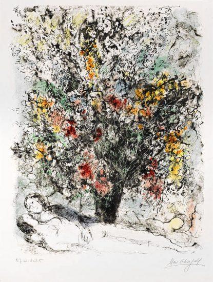 Marc Chagall Lithograph, Multiflora,1974