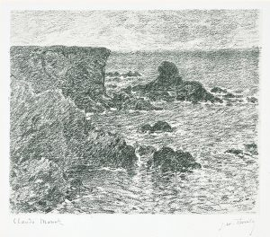 Claude Monet Lithograph, Falaises (Cliffs), 1894