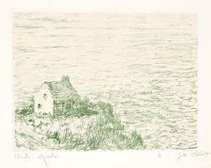 Claude Monet Lithograph, La Douane, Effet de l'après-midi (The Customs House, Afternoon Effect), 1894
