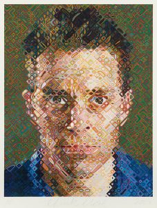 Chuck Close Screen Print, James, 2004
