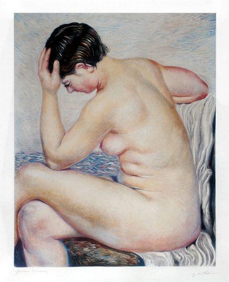 Giorgio de Chirico Etching, Bagnante Seduta (Bather Sitting), 1931