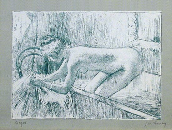 Edgar Degas Lithograph, Woman Leaving Her Bath, 1888