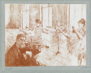 Edgar Degas Lithograph, A la Barre (On the Barre), c. 1888-1889
