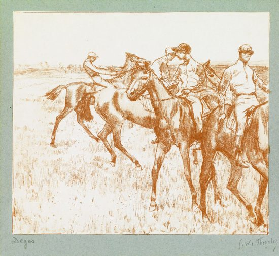 Edgar Degas Lithograph, Le Jockey (The Jockey), c. 1888-89