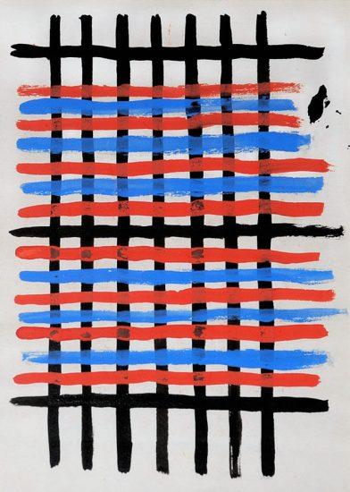 Sonia Delaunay Gouache, Projet de Tissue (Study for Fabric Damiers), No. 5112, 1925