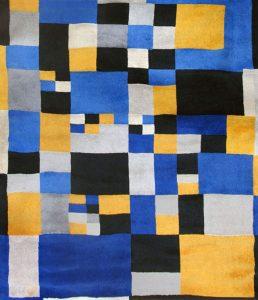 Sonia Delaunay Tapestry, Carrés magiques,1980