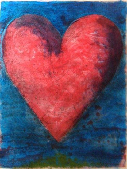 Jim Dine Lithograph, A Heart on the Rue de Grenelle, 1981