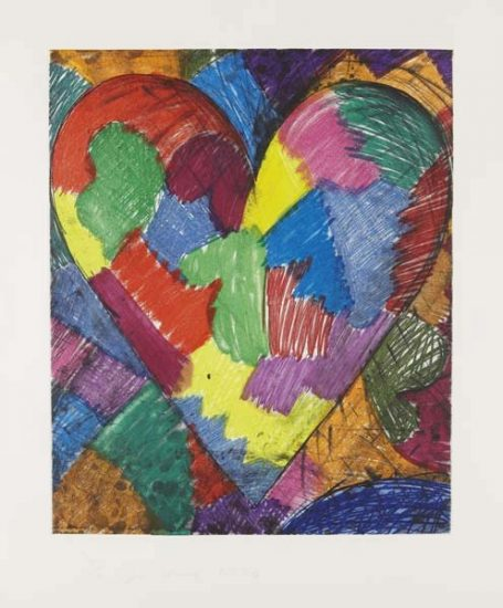 Jim Dine, A Beautiful Heart, 1996