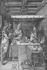 Albrecht Dürer Woodcut, Salome Presenting the Head of John the Baptist to Herodias