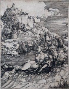 Albrecht Dürer Engraving, The Sea Monster, 1498