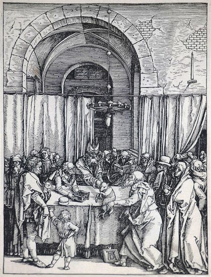 Albrecht Dürer Woodcut, The Rejection of Joachim's Offering (The Life of the Virgin), c. 1504