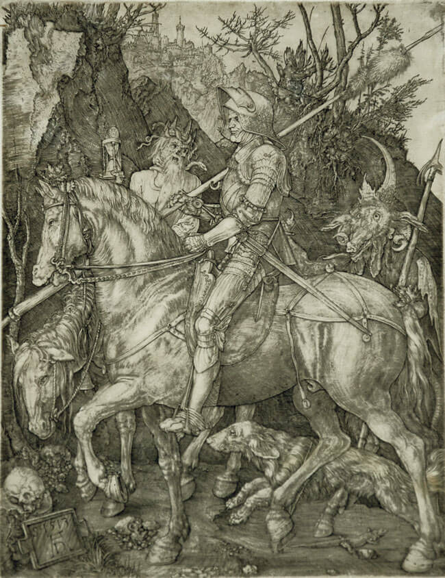 the knight death and the devil The knight, death and the devil , c1514 giclee print by albrecht dürer find art you love and shop high-quality art prints, photographs, framed artworks and posters at artcom 100% satisfaction guaranteed.