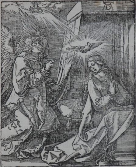 Albrecht Dürer Woodcut, The Annunciation (The Small Passion), 1612