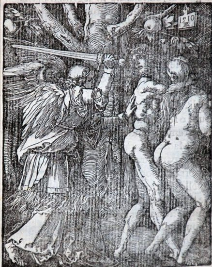Albrecht Dürer Woodcut, The Expulsion from Eden (The Small Passion), 1612
