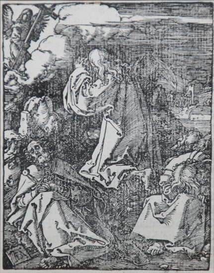 Albrecht Dürer Lithograph, Agony in the Garden (The Small Passion), 1612