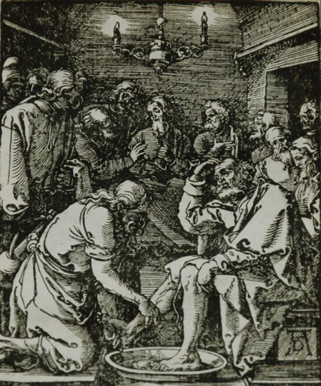 Albrecht Dürer Woodcut, Christ Washing St. Peter's Feet (The Small Passion), 1612