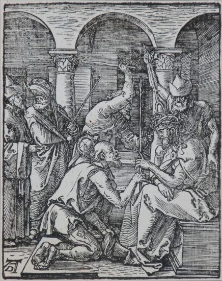 Albrecht Dürer Lithograph, Christ Crowned with Thorns (The Small Passion), 1612