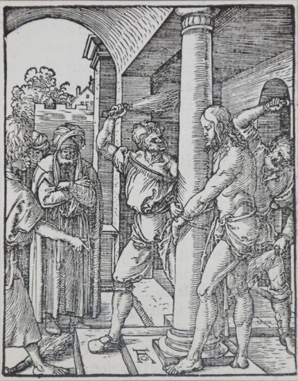 Albrecht Dürer Woodcut, The Flagellation (The Small Passion), 1612