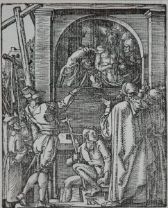 Albrecht Dürer Woodcut, Ecce Homo-Christ Presented to the People (The Small Passion), 1612