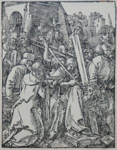 Albrecht Dürer Woodcut, The Bearing of the Cross (The Small Passion), 1612
