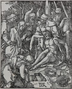 Albrecht Dürer Woodcut, The Lamentation (The Small Passion), 1612