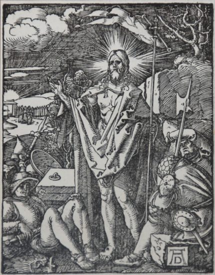 Albrecht Dürer Woodcut, The Resurrection (The Small Passion), 1612
