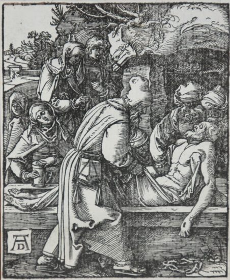 Albrecht Dürer Woodcut, The Entombment (The Small Passion), 1612