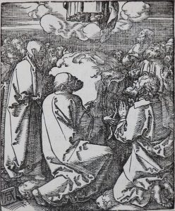Albrecht Dürer Woodcut, The Ascension (The Small Passion), 1612