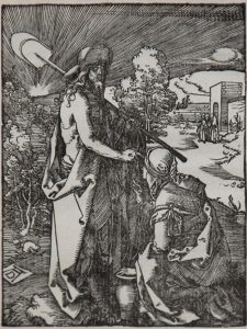 Albrecht Dürer Woodcut, Noli Me Tangere (The Small Passion), 1612