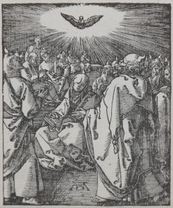 Albrecht Dürer Woodcut, Pentecost (The Small Passion), 1612