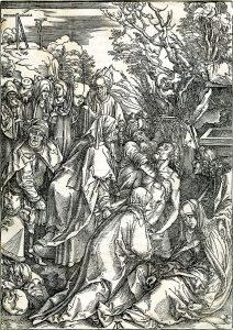 Albrecht Dürer Woodcut, Deposition of Christ (The Large Passion), c. 1496-97