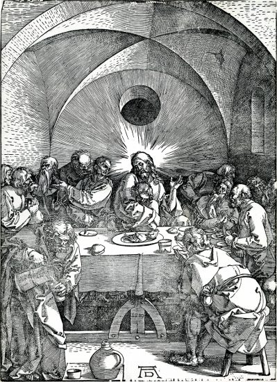 Albrecht Dürer Woodcut, The Last Supper (The Large Passion), 1510