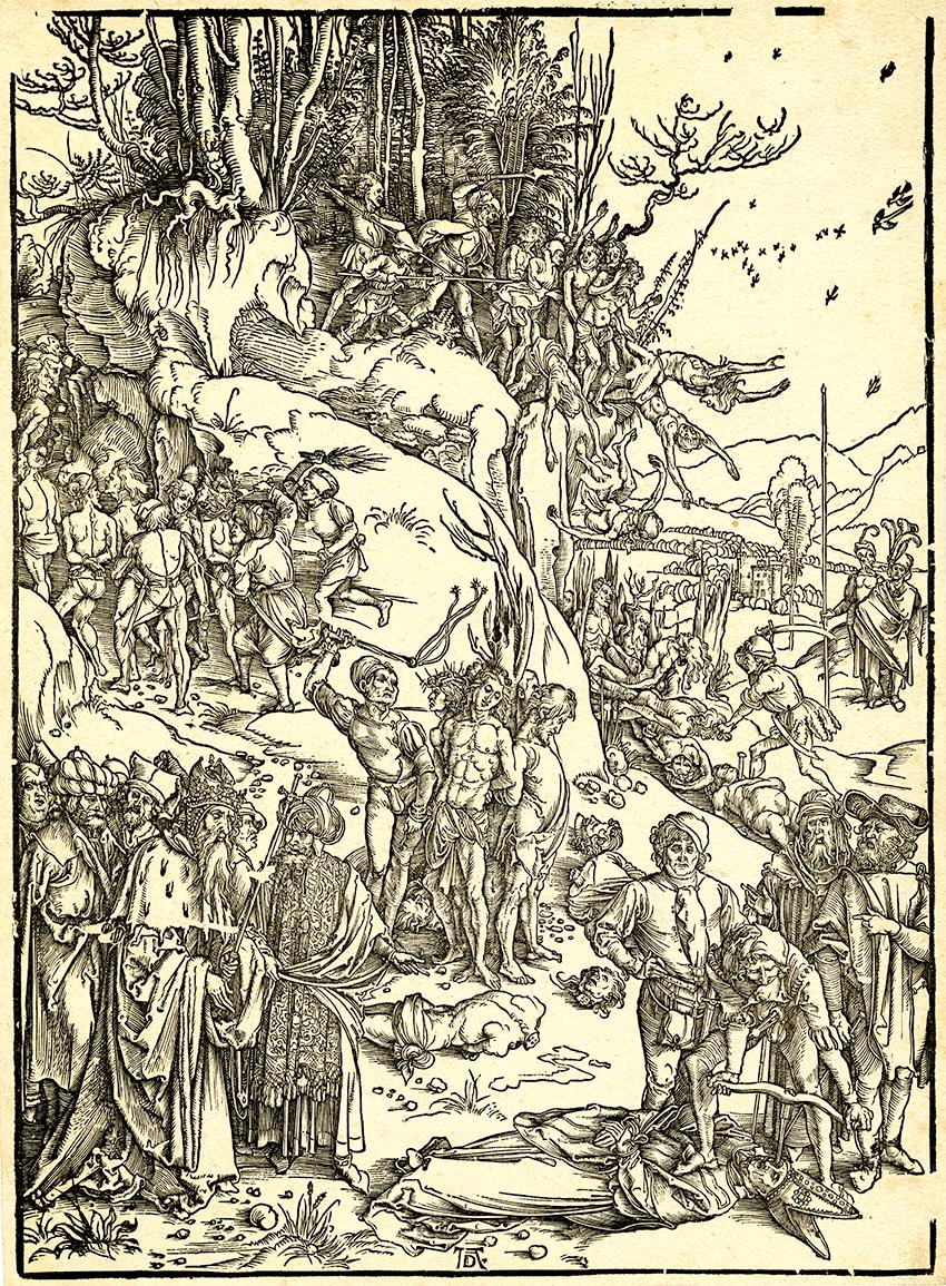 Albrecht Dürer, The Martyrdom of Ten Thousand, c. 1496