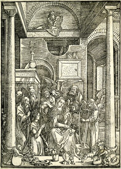 Albrecht Dürer Woodcut, Glorification of the Virgin (The Life of the Virgin), c. 1502