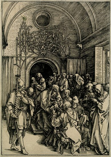 Albrecht Dürer Woodcut, The Circumcision of Christ (The Life of the Virgin), c.1505