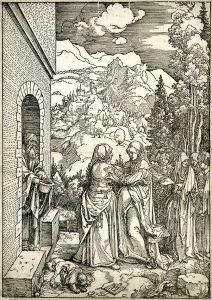 Albrecht Dürer Woodcut, The Visitation (The Life of the Virgin), c. 1504