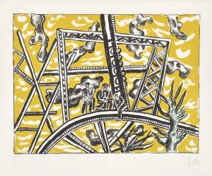 Fernand Léger Lithograph, L'Échafaudage au Soleil (The Scaffold Sun), 1951
