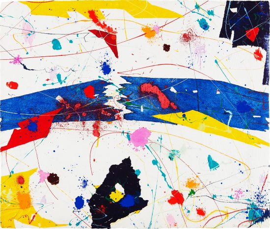 Sam Francis Monotype, Untitled, 1983
