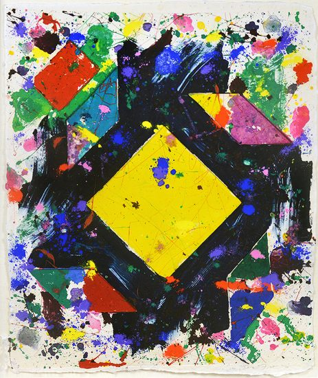 Sam Francis Monotype, Sam Francis Monotype Untitled, 1980