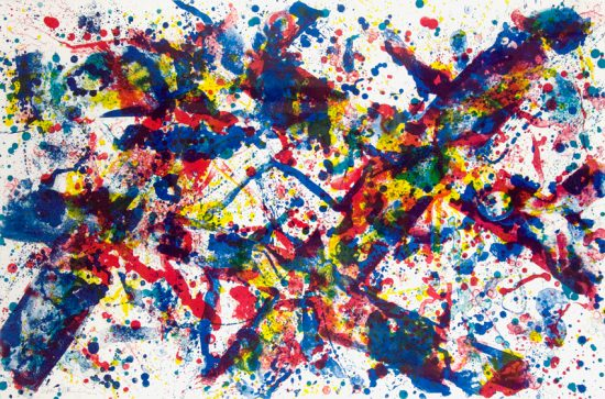 Sam Francis Lithograph, Doubled Cross, 1973