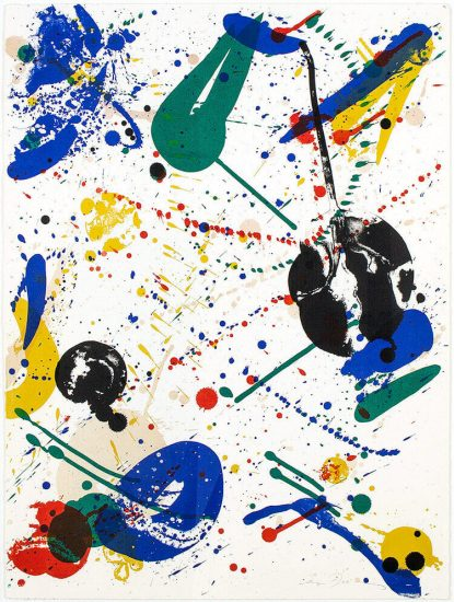 Sam Francis Lithograph, Variant of Fifty, 1965
